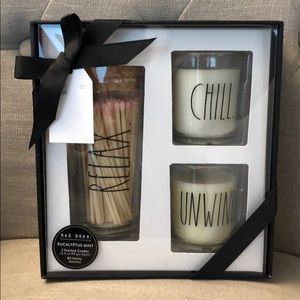 Rae Dunn Scented Candles & Matches Gift Set